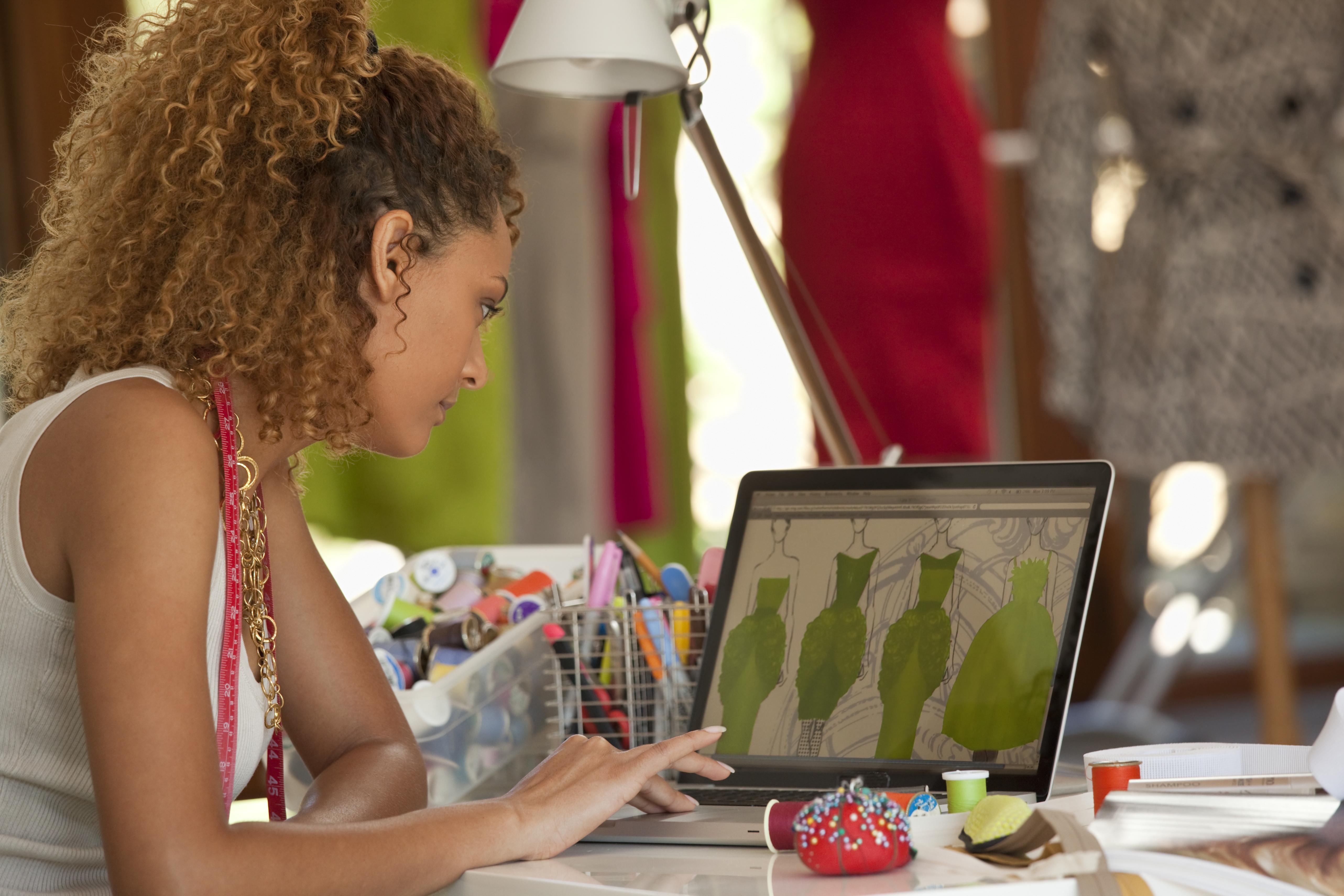designer benetton clothing marketing workshop laptop trendy return still