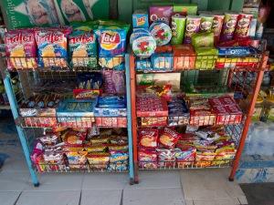 Snack food display, Luang Prabang, Laos