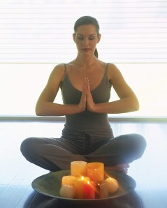 Woman Sitting in Meditation