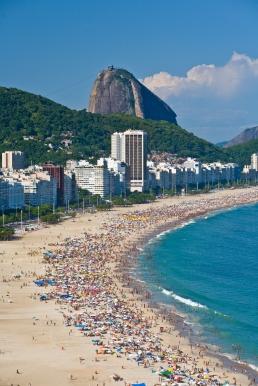 Copacabana Beach and Sugarloaf. Rio de Janeiro